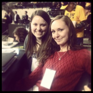 Triche and Megan at Pacer's Game